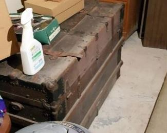 Old Antique Trunk, Wooden File Cabinet and more