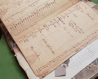 1700's to mid 1800's Store Ledger.  Local
