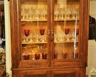 China Cabinet fabricated from an old Vintage Built-in from and old home.