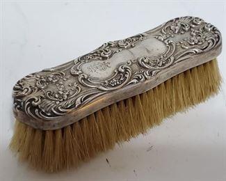 19th Century Sterling Clothing Brush