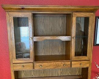 Walnut Vintage China Cabinet/Buffet/Hutch80x54x17inHxWxD