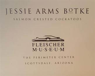 Jessie Arms Botke Salmon Creseted Cockatoos Framed Print/Poster