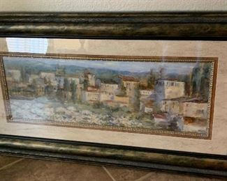 Provincial Village Painting25x47in