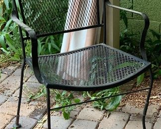 Vintage Wrought Iron Mesh Chair33x22x20HxWxD