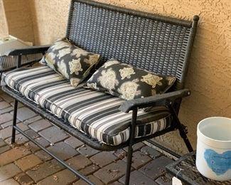 All Weather Wicker Bench/Loveseat