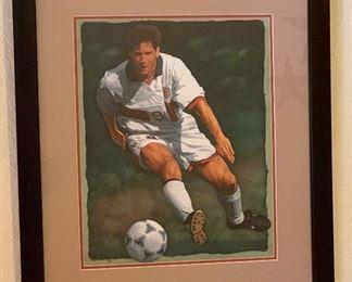 Glen Green the Shot Soccer Print