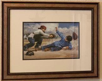 Sport prints framed