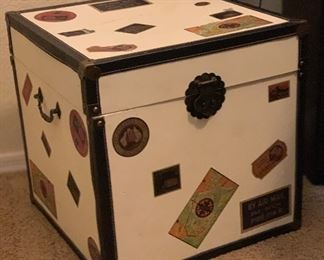Travel Trunk End Table