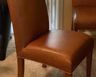 Contemporary Faux Leather Chair #1  Contemporary Faux Leather Chair #2