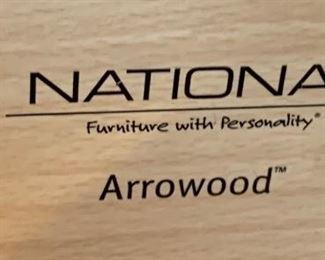 National Arrowood Natural Desk29x60x30inHxWxD