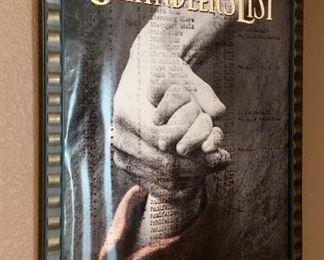 Framed Schindlers List Poster