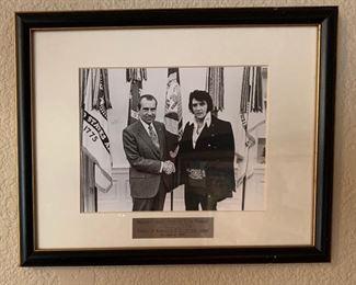 Framed Elvis & Nixon Photo