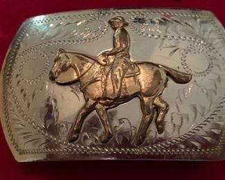 Irvine & Jachens German Silver buckle