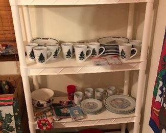 Christmas plate sets, mugs, etc