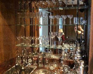 Glassware, Barware, Silver Plate