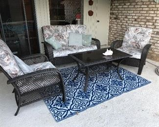 Patio Furniture and Rug