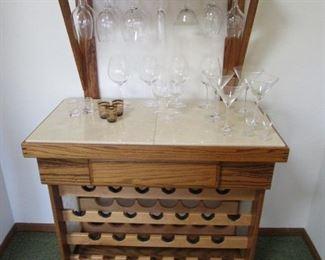 Custom made wine bar