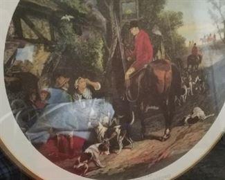 fox hunt scene framed artwork