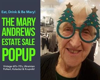 Meet Mary! The lady to celebrate.  Come join us as we open up her home for an estate sale.