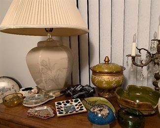 Collection of vintage ashtrays.