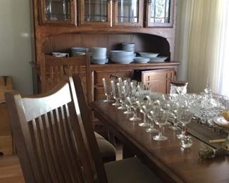 Dining table and matching china cabinet