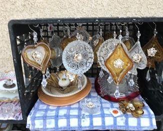 Christmas ornaments - vintage glass