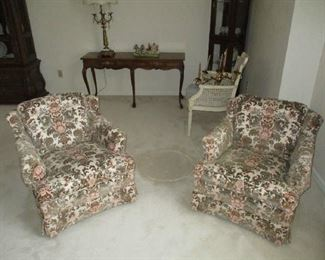 Pair of Floral side chairs