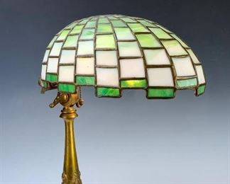"Rare Duffner & Kimberly ""Nautilus"" Leaded Lamp"