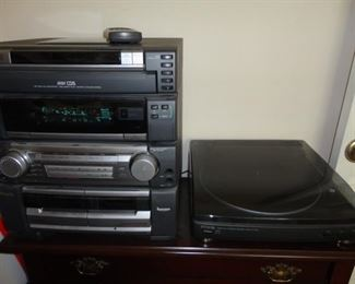 STEREO AND TURNTABLE RECORD PLAYER