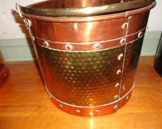 BRASS AND COPPER CROCK