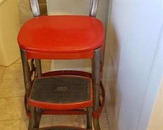 Red cosco kitchen stool