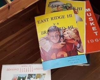 Vintage East Ridge High football programs and annuals