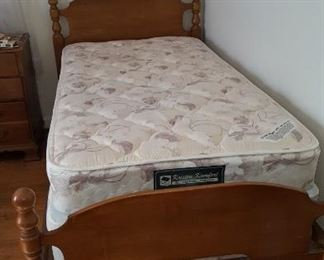 Twin mattress and box spring, also twin bed frame