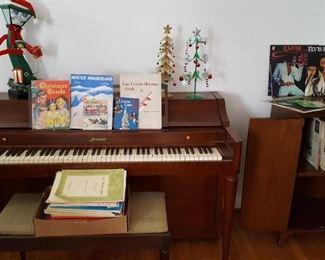 Acrosonic piano and bench,