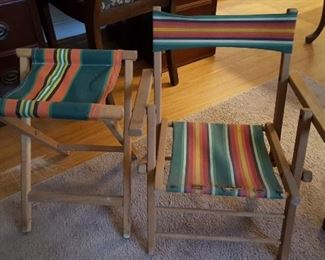 Childs camp chair, camp stool