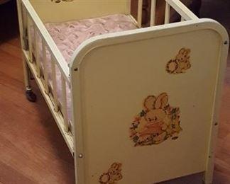 Amsco metal doll crib