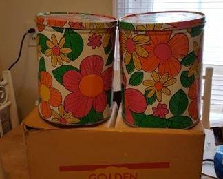 Golden Flake tins in box