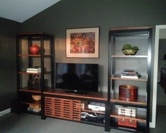 Nichols & Stone 3 piece entertainment shelves