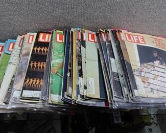 Lot of 1960s Vintage Life Magazines -Great Ads -May be incomplete