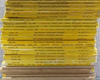 Lot of Vintage National Geographic Magazines Assorted years-Great Ads-May be incomplete