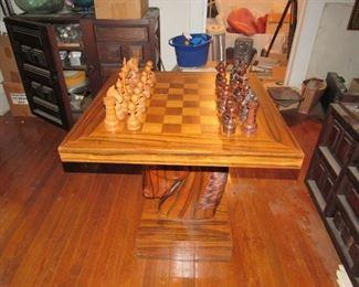 Unique horse head chess table