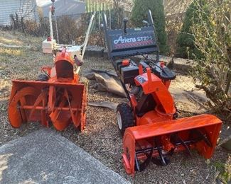 Two Ariens snowblowers