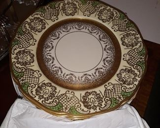 Charger Plates, guilded