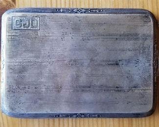 WWI era (carried into war) sterling cigarette case