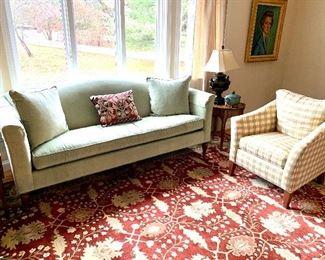 Ethan Allen  Camelback Sofa, bench cushion