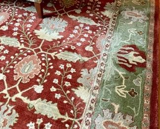 Another fabulous rug - burgundy and sage.