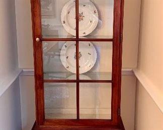 Narrow Ethan Allen Display Cabinet