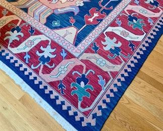 Large area, colorful rug