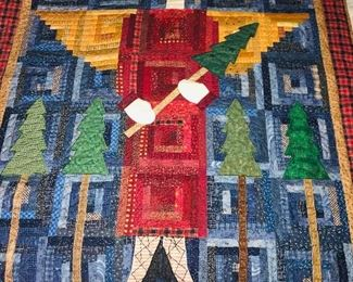 Small hand pieced Angel Holiday quilt