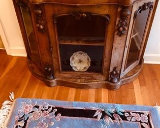 Gorgeous antique cabinet. Chinese rug